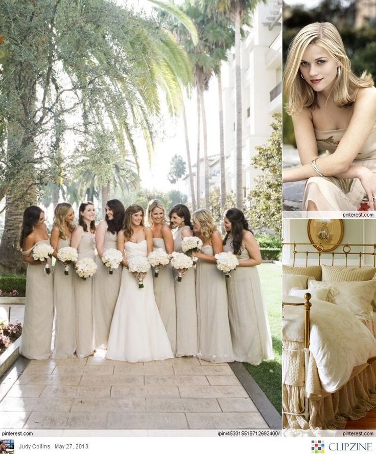 Long Champagne Colored Bridesmaid S Dresses