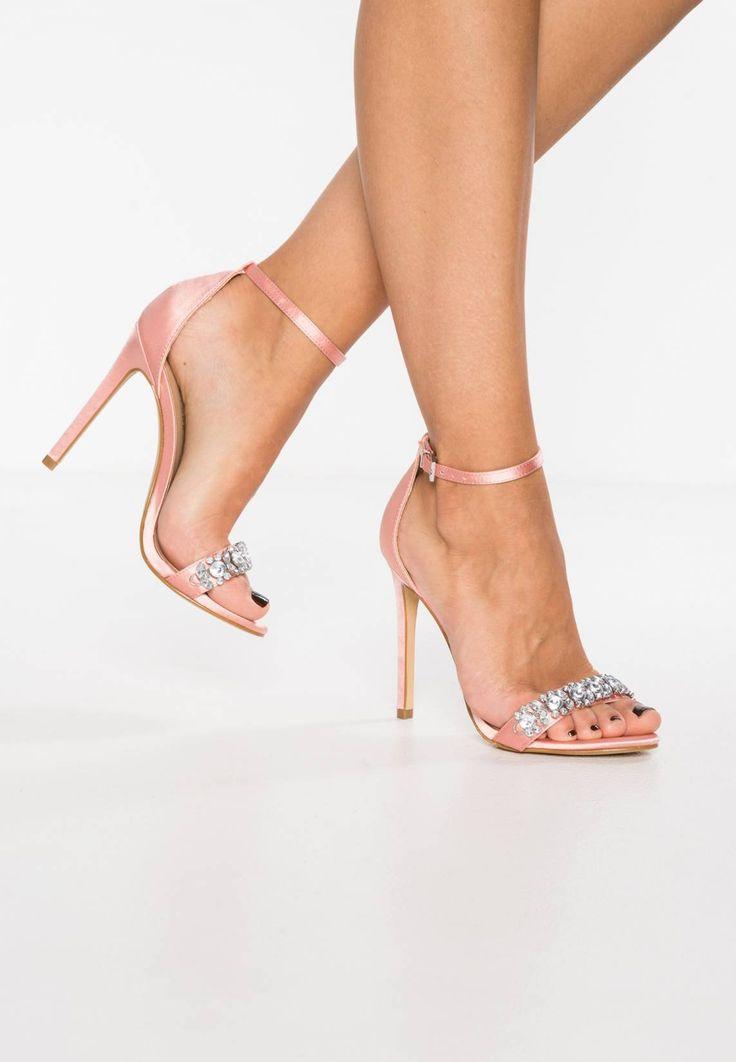 New Look. TWINS - Sandali con tacco - pink. Fodera:senza imbottitura. Altezza del tacco:10.5 cm nella taglia 37. Chiusura:Fibbia. Punta:Aperta. Suola:Materiale sintetico. Materiale parte superiore:Tessuto. Rivestimento:Finta pelle / Tessuto....