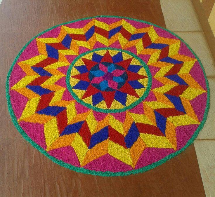 Nice colour combination New rangoli designs, Rangoli