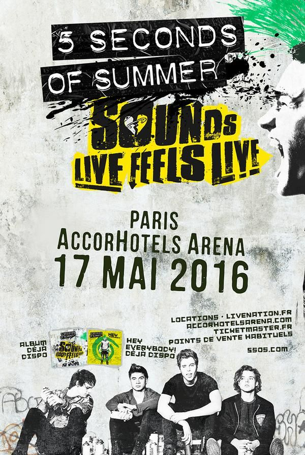 5 Seconds Of Summer en concert en France en 2016 !!! 5 SOS http://www.bestofticket.com/5-seconds-of-summer-70161