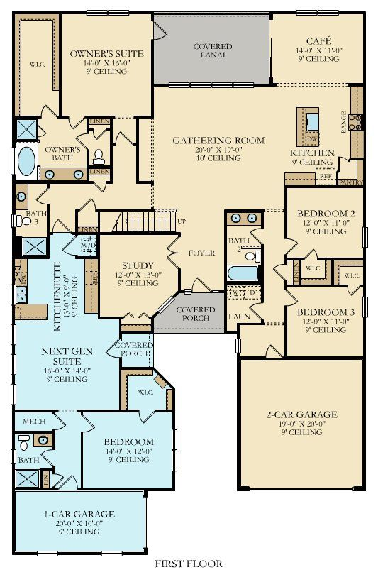 Genesis Bonus New Home Plan in Palencia Executive Collection in