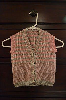 Baby Vest Free Knitting Pattern : KNIT BABY VEST PATTERN Free Patterns knitting Pinterest Baby vest, Ve...