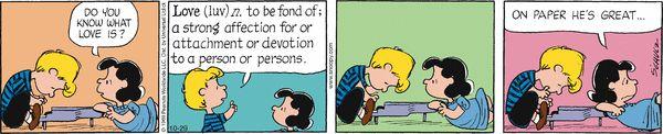 Peanuts Comic Strip, October 29, 2016     on GoComics.com