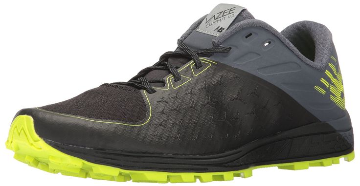New Balance Men's Vazee Summit V2 Running Shoe Trail Runner, Black/Thunder, 12 D US
