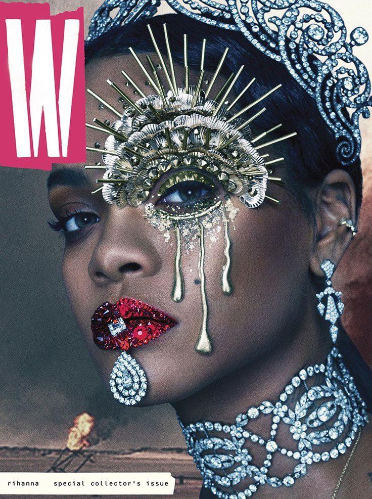 'W' MAGAZINE SEPTEMBER ISSUE - RIHANNA COVER