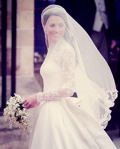 Princess Kate Middleton veil picture perfection.