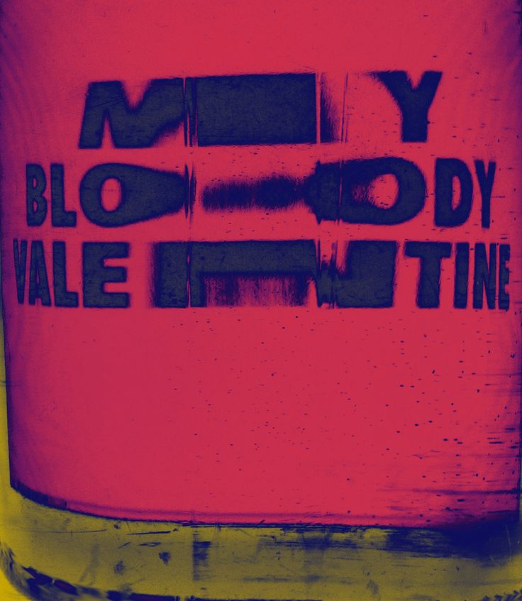 My Bloody Valentine, poster submitted and designed byMatt Chinworthfor his 365-day typography journalTypeSWAMP(2013) –Type OnlyUnit Editions