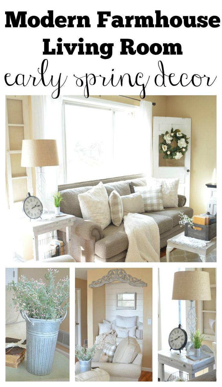 Modern Farmhouse Living Room Decorated With Early Spring Decor Great Ideas To Decorate Your Home