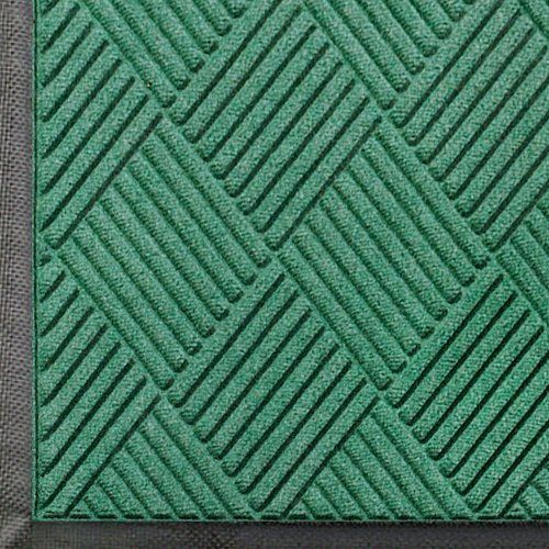 """Andersen 208 Aqua Marine Polypropylene WaterHog Classic Diamond Entrance Mat, 4' Length x 3' Width, For Indoor/Outdoor by Andersen. $60.87. Perfect for most applications inside or out, WaterHog Classic Diamond's unique design makes it revolutionary. The rubber reinforced face nubs and diamond design provide crush proof scraping action. The raised rubber """"water dam"""" border traps dirt and water – keeping them off carpet and floors. Premium 24 oz/sq anti-static Polypropy..."""