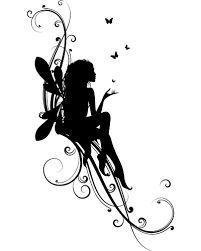 fairy tattoo design silhouette ile ilgili görsel sonucu