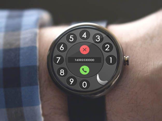 Android Wear Concept Deign UI : Call Dialer .. Moto 360