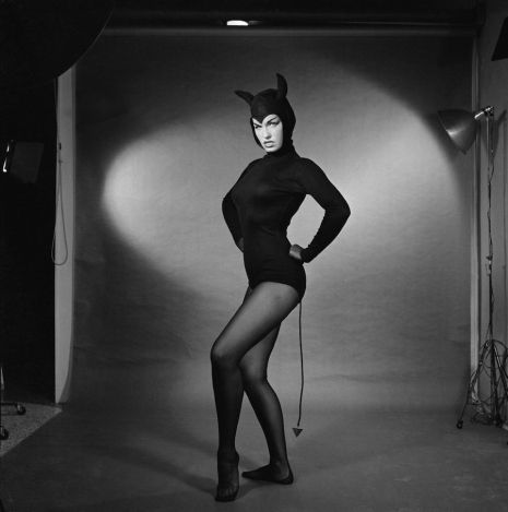 Vintage Photos of Bettie Page, Batgirl,  Joan Crawford, Elvis, and Vampira Dressed up for Halloween
