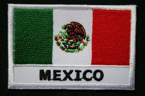 Ecusson Brodé- Patch Drapeau- MEXIQUE / MEXICO -70x45mm | eBay