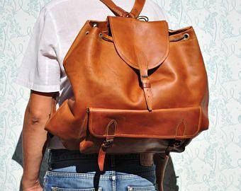 Sac à dos en cuir, sac à dos géant, sac à dos grand modèle en cuir, sac à dos en cuir marron, titulaire du portefeuille designer, titulaire du portefeuille en cuir