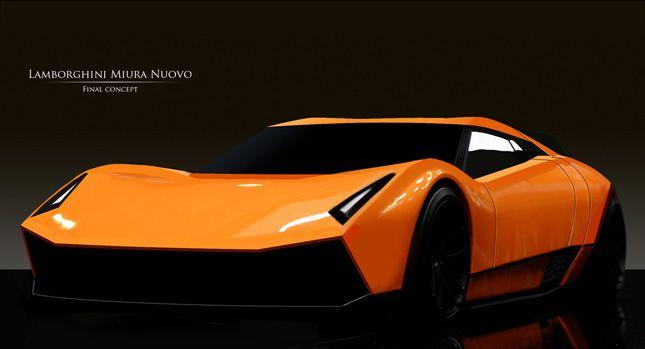 Lamborghini Miura Nuovo Study Its Awsome New Version Of Muria I Love This  Car Have 5 On Forza Amazing Ideas
