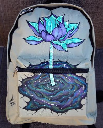 Hand-painted Backpack w/ Original NebuLotus by DosaegaCreative