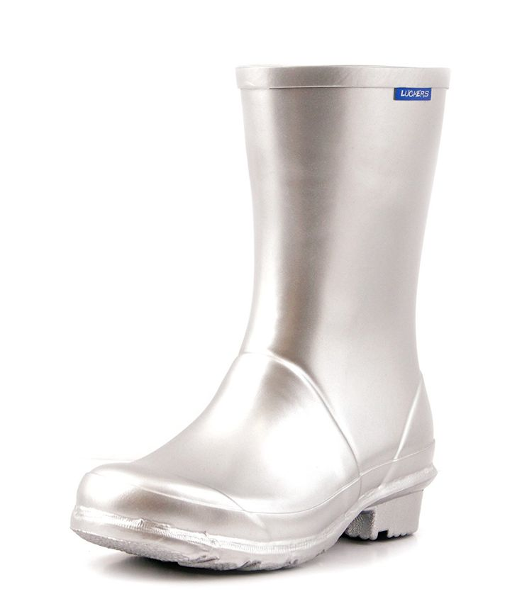 Luckers Women's Silver Metallic Wellies Rain Boots ** Want to know more, click on the image.