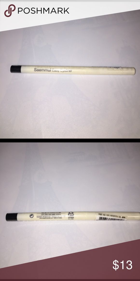Saemul New easy eyeliner color 01 Korean Makeup Saemul New easy eyeliner color 01 Korean Makeup, brand Saemul, sealed, never used. No low ball offers please. MAC Cosmetics Makeup Eyeliner
