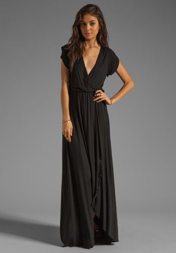 RACHEL PALLY Perpetua Wrap Dress in Black at Revolve Clothing, $233