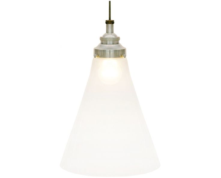 Glass Lamp Bases South Africa: Above Dining Table: Conic Glass Pendant Lamp