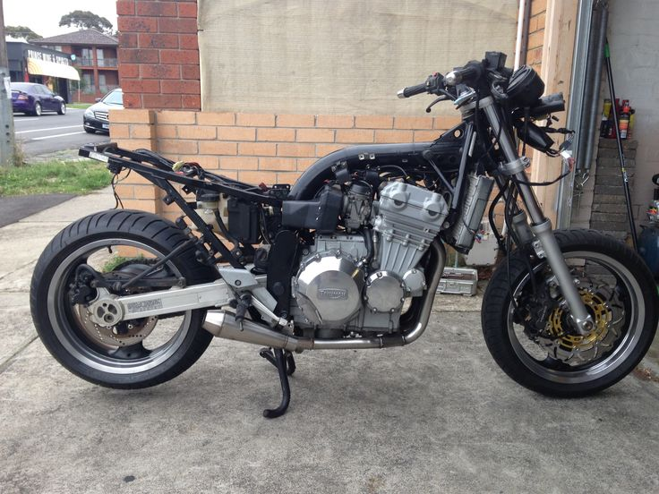 Half finished 91 triumph trophy 900 converted to streetfighter .