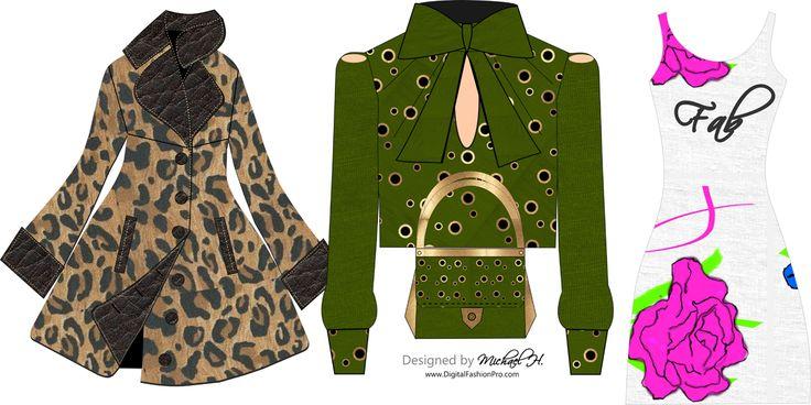 Blouse Design by Michael H using Digital Fashion Pro Fashion Design Software. https://startmyline.com/dfp #fashion #design #startaclothingline