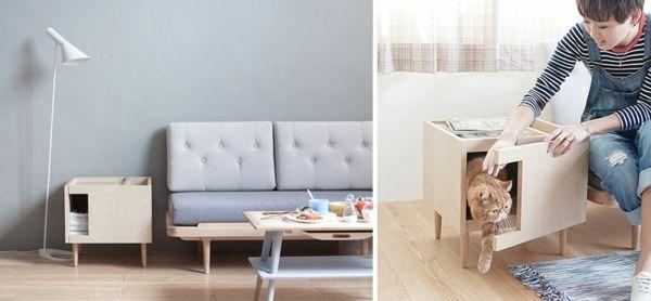 katzenmöbel design möbelstück anrichte