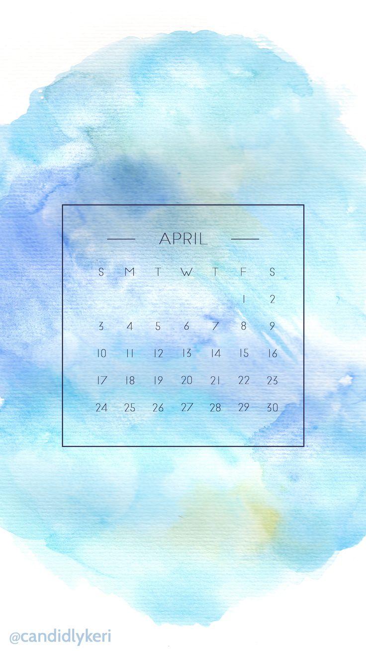 Watercolor Desktop Wallpaper Calendar : Blue purple and yellow watercolor background april