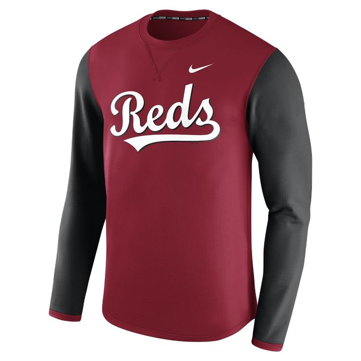 Nike Thermal Crew (MLB Reds) Men's Long Sleeve Shirt Size