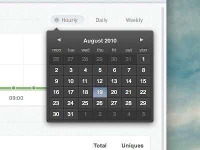 Pop over calendar is pretty darn cool
