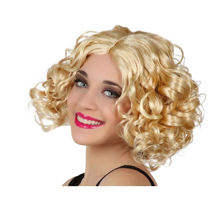 Peluca rizada rubia de Sandy de Grease. También podría servir como peluca de Marilyn.