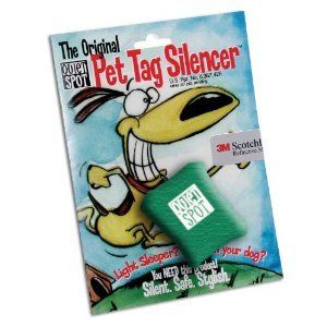 Quiet Spot Pet Tag Silencer - Green ** Details can be found by clicking on the image. (This is an affiliate link and I receive a commission for the sales)