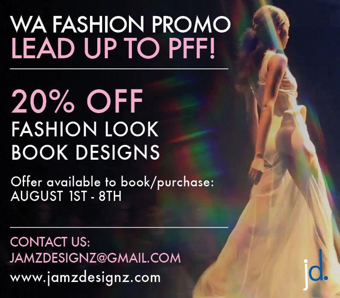Jamz Designz NEW PROMOTION 20% OFF FASHION LOOK BOOKS! Don't miss out! Visit www.facebook.com/jamzdesignz or www.jamzdesignz.com to find out more! #fashion #design #graphicdesign #promotion