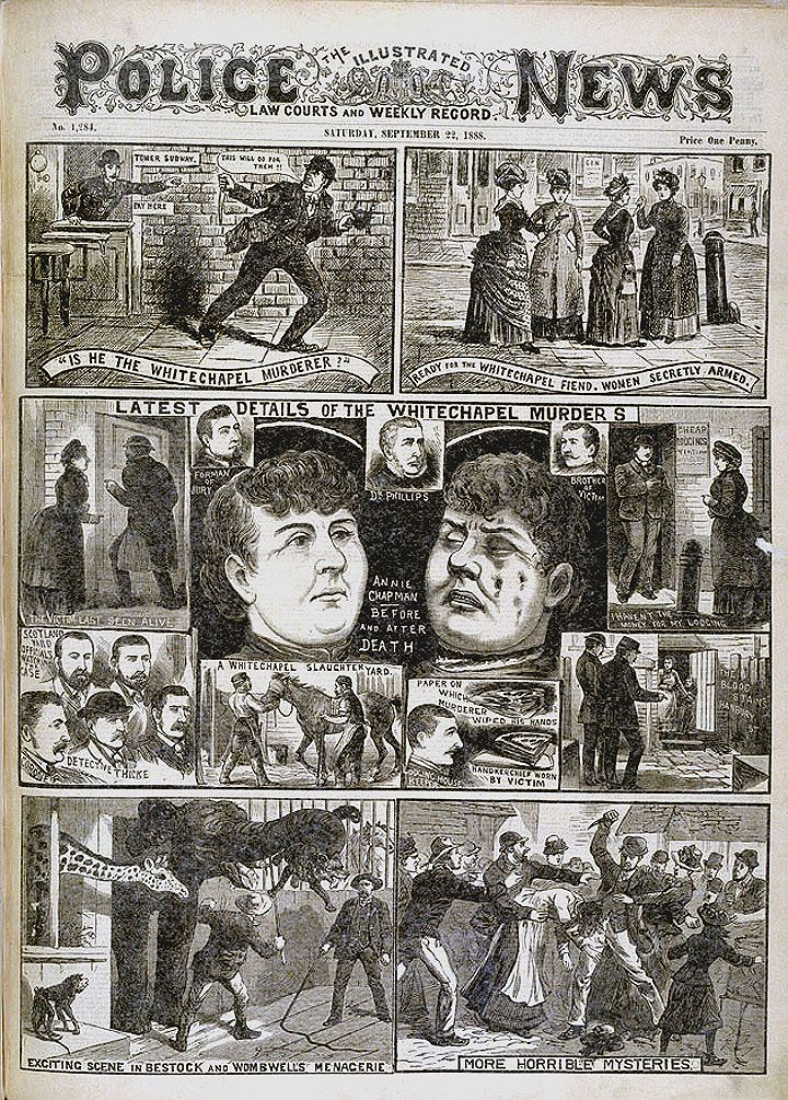 Jack The Ripper 'IS HE THE WHITECHAPEL MURDERER?' The Illustrated Police News etc (London, England), Saturday, September 22, 1888 - Issue 1284.