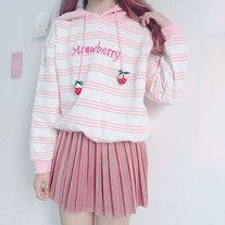 Stripey Strawberry Hoodie
