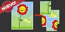 Rompecabezas online de 4 piezas para niños pequeños: Flor - Chin Pum Juegos