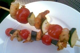 shrimp shish kabob