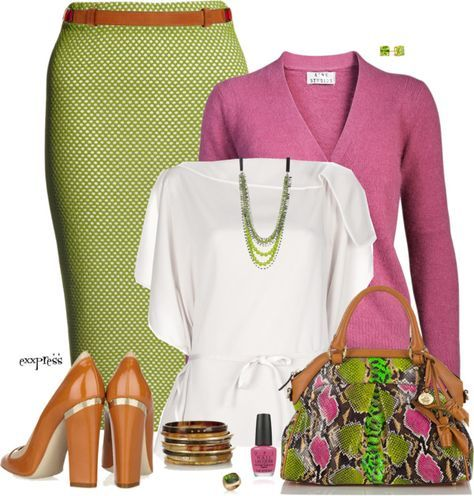 """""""Spring Green and Pink"""" by exxpress on Polyvore"""