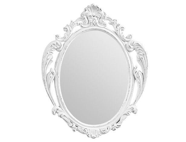 Os espelhos barrocos estão em alta. Esse modelo, à venda na Tok (www.tokstok.com) mede 25 x 30 cm e tem moldura feita em resina pintada com acabamento desgastado. À venda por R$ 39,90