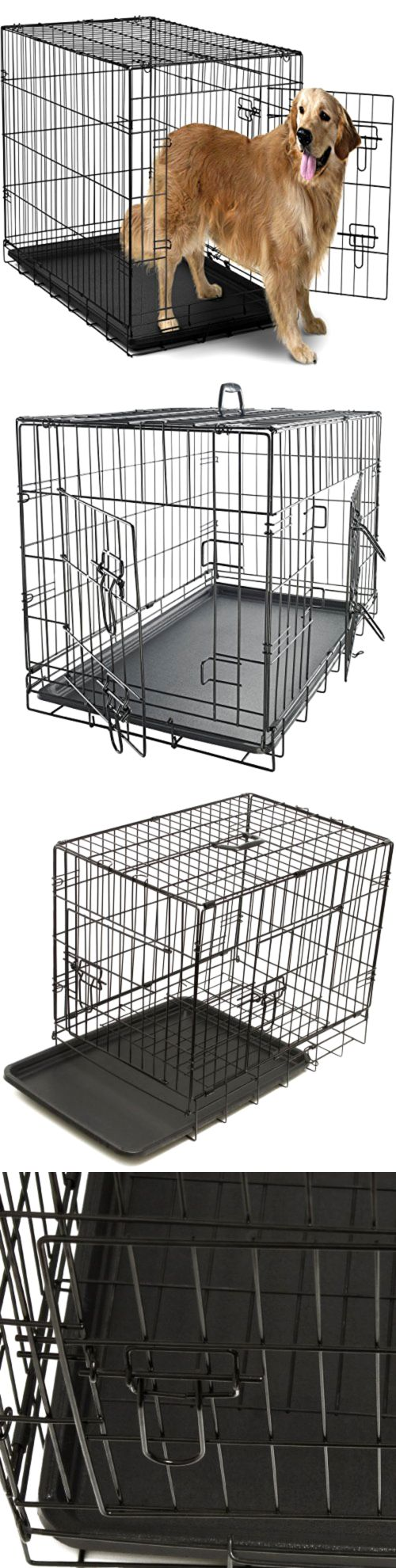 Cages and Crates 121851: Extra Large Dog Crate Kennel Xxl Xl Huge Folding Pet Wire Cage Giant Breed Size -> BUY IT NOW ONLY: $49.05 on eBay!
