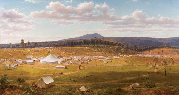 Ballarat 1853-54, by Eugene von Guerard
