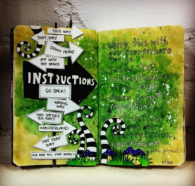 wreck this journal page by sari rakovic INSTRUCTIONS page #wreckthisjournal