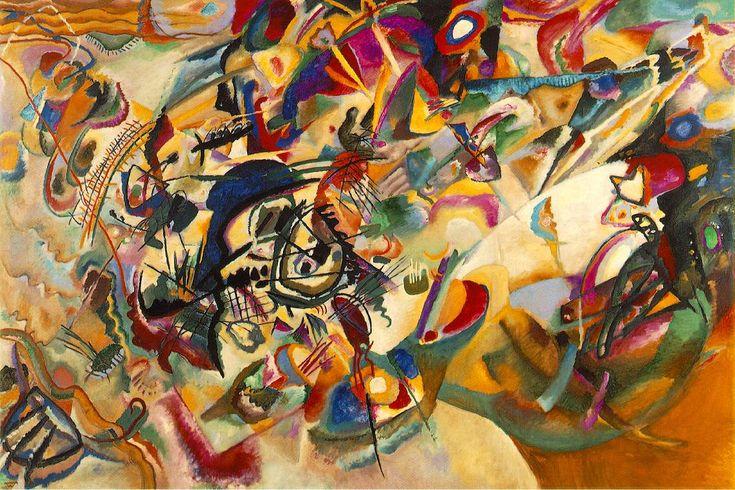 바실리 칸딘스키 - 구성7(1913) 표현주의 나의 화화작품을 보는 것이지만 거대한 음악처럼 다가온다. 색감과 일그러진 형태들은 그것들의 조합만으로도 감상자를 충분히 매료시키고 있는 것 같다.