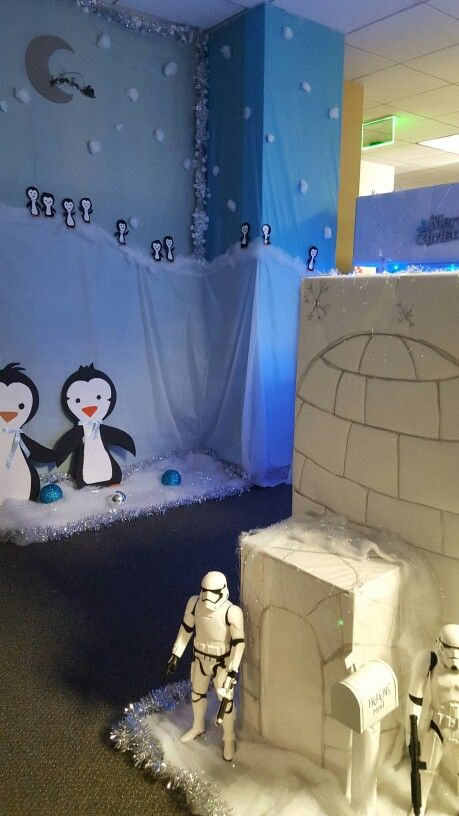 Igloo Entrance Protected By Storm Troppers Penguins