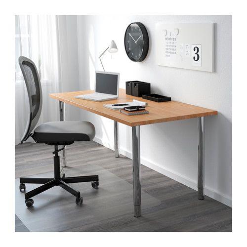 GERTON Table, hêtre, chromé 155x75 cm hêtre/chromé