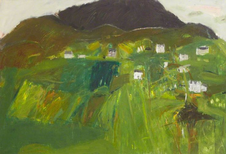 Staffin, Skye, by Elizabeth Blackadder, Oil on canvas, 108 x 158 cm