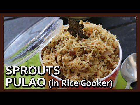 How to make Sprouts Pulao in Rice Cooker | Healthy Rice Recipe by Healthy Kadai - YouTube