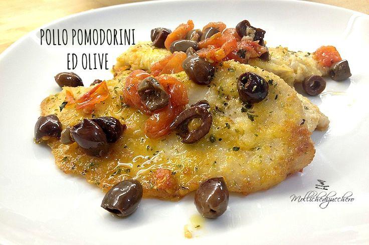 Il pollo pomodorini ed olive è un secondo piatto velocissimo che possiamo preparare anche all'ultimo istante, ricco di sapore e di colore piacerà a tutti!