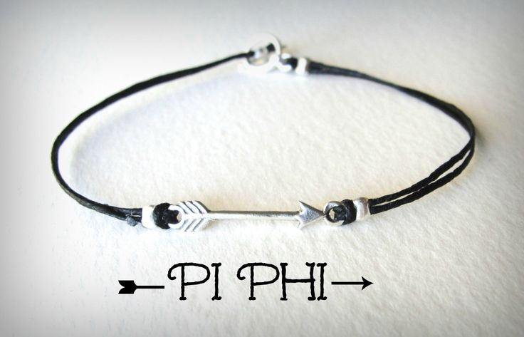 Sterling #Arrow bracelet on linen for all you new #PiPhi gals out there! www.jewelrybymaebee.etsy.com