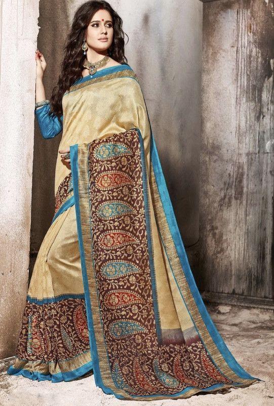 Multicolor Saree - Desi Royale